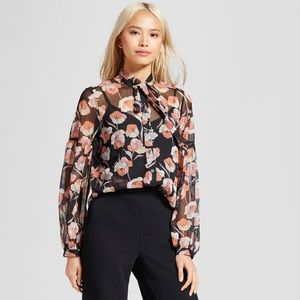 NWT Women's Who What Wear Poppy Floral Top